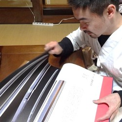 Masatada knows his swords and here he explains the different sword styles from one of his reference books.